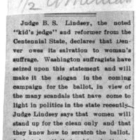 Page 154 : [news clipping: Lindsey's Statement Made Slogan]