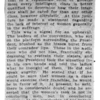 Page 069 : Woman Rebuked By Speaker for Lack of Control: President Declares That They Are Taking Poor Method of Showing Fitness For Suffrage (continued from page 68)