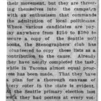Page 162 : [Washington Suffragists' commmand admiration of local politicians]