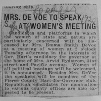 Page 030 : Mrs. DeVoe To Speak At Women's Meeting