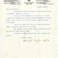 Letter from Harriet Upton to Emma Smith DeVoe, 11/21/1907, page 1