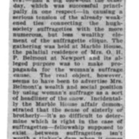 Page 157 : [news clipping: Suffragettes Gather at Marble House]