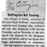 Page 101 : Suffragists Not Coming