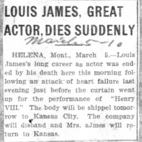 Page 043 : Louis James, Great Actor Dies Suddenly