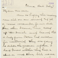 Letter from Sara Callow to Emma Smith DeVoe, 2/7/1908, page 1
