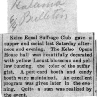 Page 004 : [news clipping: Kelso Gives Social]