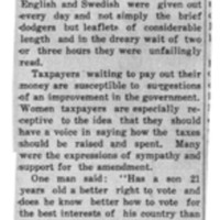 Page 084 : Suffrage Handbills For Taxpayers
