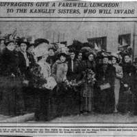 Page 097 : Female Suffragists Give a Farewell Luncheon to the Kangley Sisters, Who Will Invade England