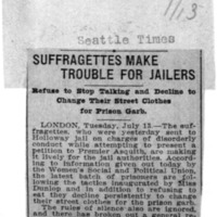 Page 106 : Suffragettes Make Trouble for Jailers