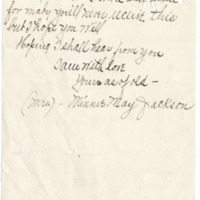 Letter from Minnie Jackson to Emma Smith DeVoe, 2/15/1911, page 3