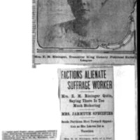 Page 167 : Factions Alienate Suffrage Worker