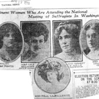 Page 088 : Prominent Women Who Are Attending the National Meeting of Suffragists in Washington City