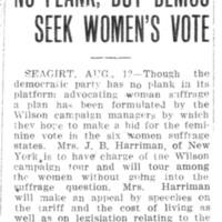 Page 091 : No Plank, But Demos Seek Women's Vote