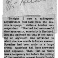 Page 166 : [news clipping: Suffragette Has Success in Scotland]