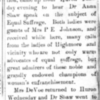 Page 32 : [news clipping: Emma Smith DeVoe with Anna Shaw]