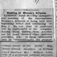 Page 160 : Meeting of Woman's Alliance