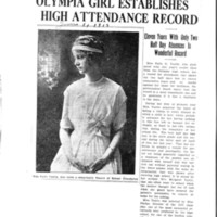 Page 110 : Olympia Girl Establishes High Attendance Record