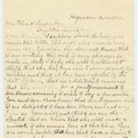 Letter from Harry Ferguson to Ellen Leckenby, 4/14/1909, page 1