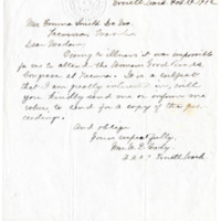 Letter from Mrs. W. Cady to Emma Smith DeVoe, 2/24/1912