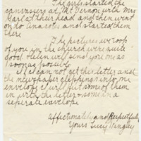 Letter from Lucy Kangley to Emma Smith DeVoe, 7/27/1908, page 3