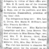 Page 075 : Suffragists Elect State Delegates (continued on page 76)