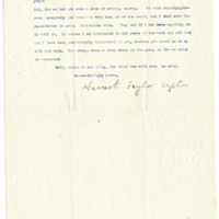Letter from Harriet Upton to Emma Smith DeVoe, 5/31/1906, page 2