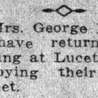 Page 73 : [news clipping: Libbeys return from summer outing at Luceta Beach]