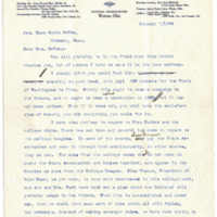 Letter from Harriet Upton to Emma Smith DeVoe, 1/7/1908, page 1