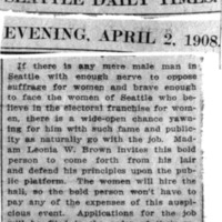 Page 135 : [news clipping: Is Man Brave Enough to Oppose Suffrage?]