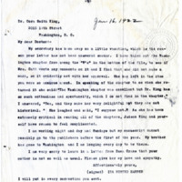 Letter from Ida Harper to Cora Smith King, 1/16/1922, page 1