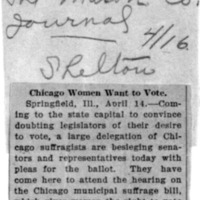 Page 152 : Chicago Women Want to Vote