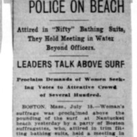 Page 111 : Suffragists Foil Police on Beach