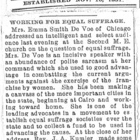 Page 034 : [news clipping: Review of Emma Smith DeVoe lecture at Second Methodist Episcopal Church]