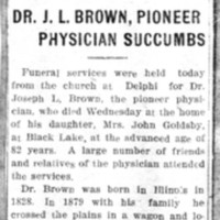 Page 041 : Dr. J.L. Brown, Pioneer Physician Succumbs