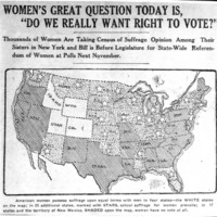 """Page 004 : Women's great question today is """"Do we really want the right to vote?"""""""