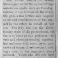Page 29 : [news clipping: Emma Smith DeVoe at Harrold]