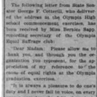 Page 005 : Senator Cotterill Writes to Suffragist