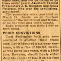 Page 75 : E.G. Lewis Given 5 Years in Prison and $14,000 Fine (Part 1)