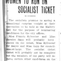 Page 092 : Women To Run On Socialist Ticket