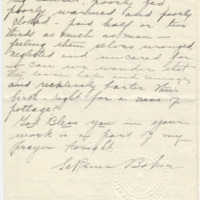 Letter from LaReine Baker to May Grinnell, 10/15/1908, page 4