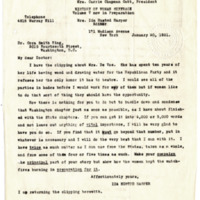 Letter from Ida Harper to Cora Smith King, 1/20/1921, page 1