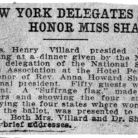 Page 095 : New York Delegates Honor Miss Shaw