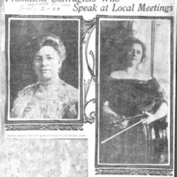 Page 018 : Prominent Suffragists Who Speak at Local Meetings