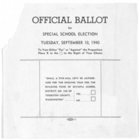 Page 002 : Official Ballot fir Special School Election