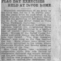 Page 49 : Flag Day Exercises Held at DeVoe Home