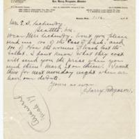 Letter from Harry Ferguson to Ellen Leckenby, 3/16/1910, page 1