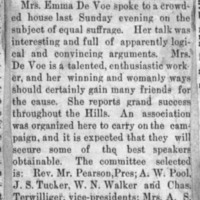 Page 37 : [news clipping: Emma Smith DeVoe in Hermosa]