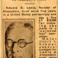 Page 75 : E.G. Lewis Given 5 Years in Prison and $14,000 Fine (Part 2)