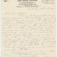 Letter from Mary Keith to Emma Smith DeVoe, 3/10/1912, page 1