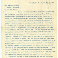 Letter from Cora Smith Eaton to Emma Smith DeVoe, 3/2/1895, page 1